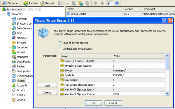 Virtual Dealer Plugin Setup